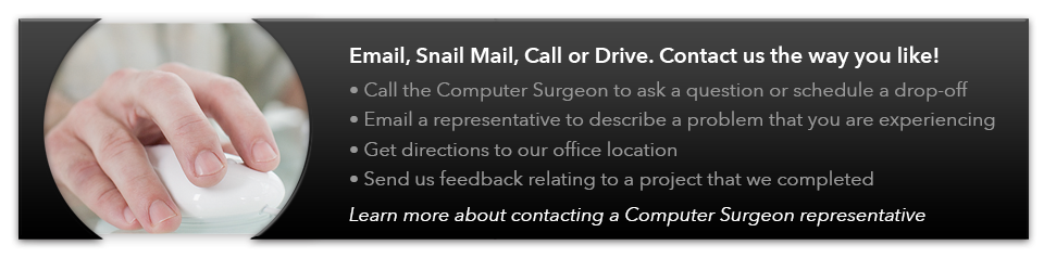 Contact Computer Surgeon